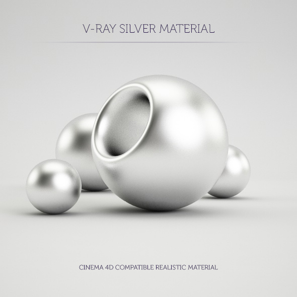 C4D V-Ray Silver Material - 3DOcean Item for Sale