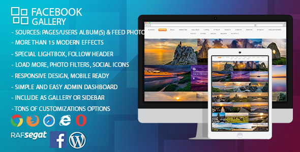 Facebook Gallery - Wordpress Plugin - CodeCanyon Item for Sale