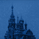 Russian Church In Snowstorm At Night - VideoHive Item for Sale