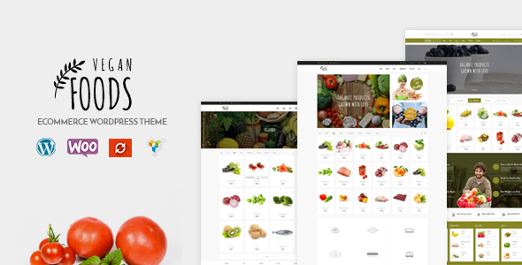 Vegan Food - Responsive Woocommerce WordPress Theme