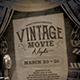 Vintage Movie Night Flyer-Graphicriver中文最全的素材分享平台
