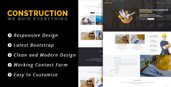Construct - HTML 5 Template for Construction/Building Business by ZOZO-PRO