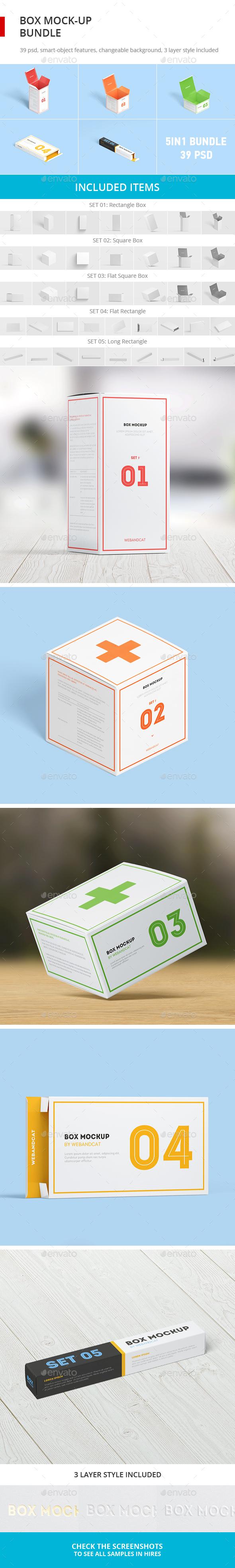 Box Mock-up Bundle