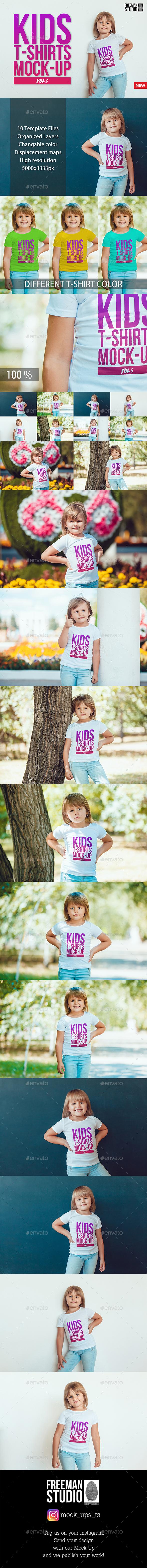 Kids T-Shirt Mock-Up