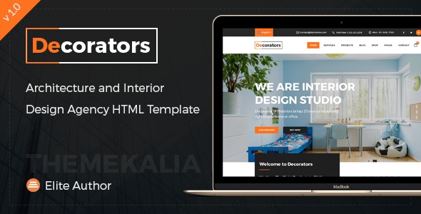 Decorators – HTML Template for Modern Interior Design Studio