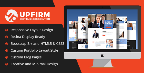 UpFirm Multi Purpose HTML5 Website Template - Business Corporate