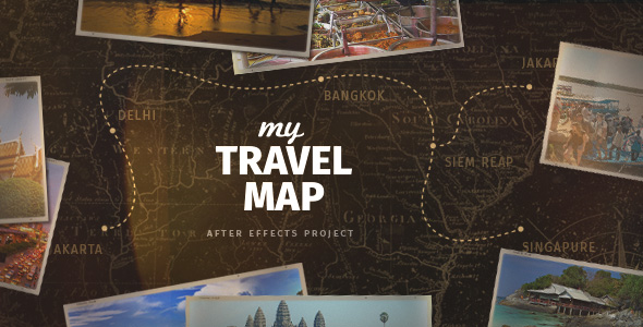 My Travel Map My Travel Map by elmake | VideoHive My Travel Map