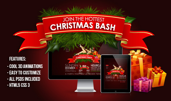 3D Christmas Bash - Nightlife Entertainment