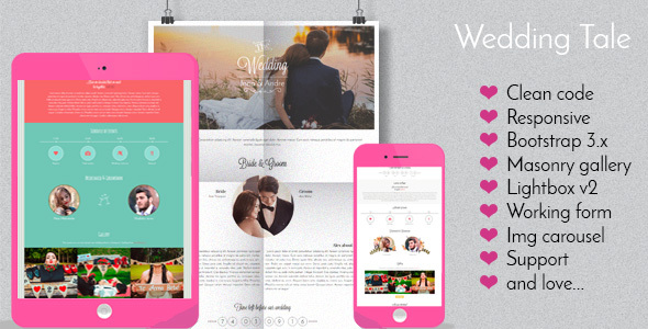 Wedding Tale – Responsive Wedding Template