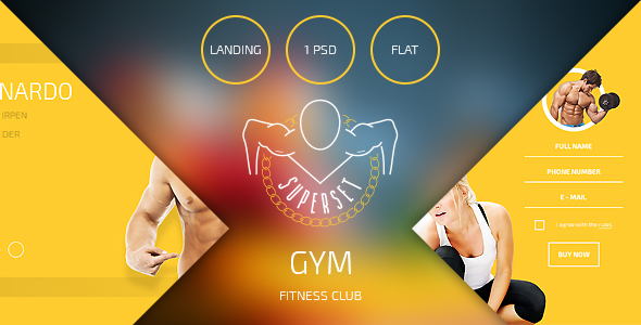 SUPERSET – GYM Landing Page