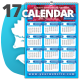Fresh Wall n Desk 2017 Calendar Template - GraphicRiver Item for Sale