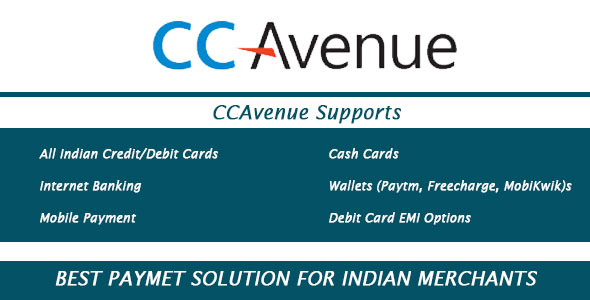 CCAvenue Payment Module - OpenCart 2.x.x - CodeCanyon Item for Sale