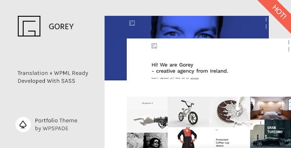 Gorey Portfolio - Minimalist Portfolio WordPress Theme