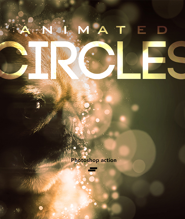 Gif Animated Circles Photoshop Action - Photo Effects Actions