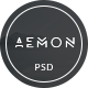 AEMON Portfolio PSD Template Nulled