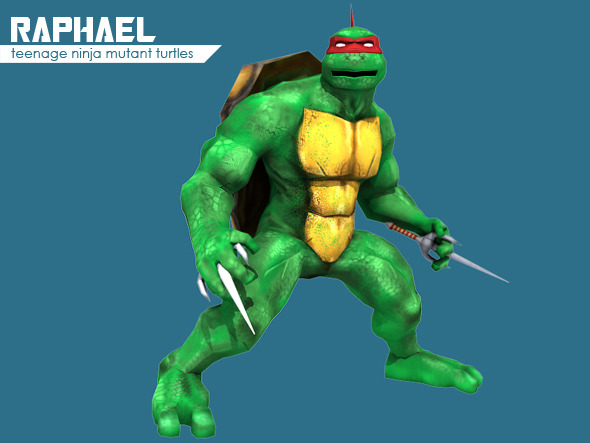 Teenage Ninja Mutant Turtle Raphael - 3DOcean Item for Sale