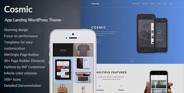 Cosmic – App Landing Multi-Purpose WordPress Theme