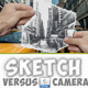 Pencil Sketch vs Camera Photo Effect Photoshop Action - GraphicRiver Item for Sale