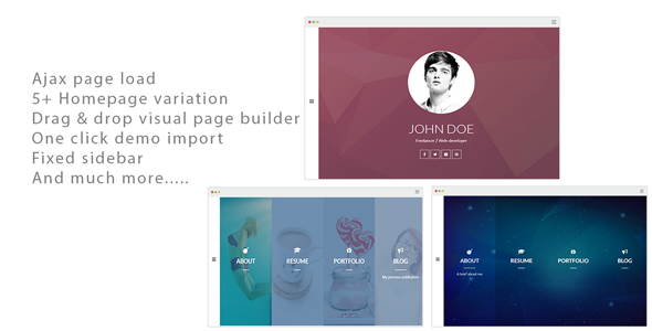 Alamgir - Ajax CV/Resume Theme