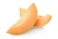Cantaloupe melon orange slices on white, clipping path - PhotoDune Item for Sale
