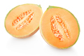 Cantaloupe melon and section isolated on white, clipping path - PhotoDune Item for Sale