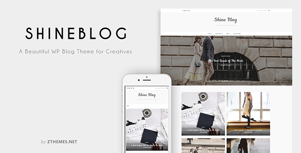 ShineBlog - A Responsive WordPress Blog Theme