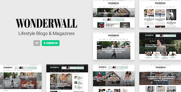 Wonderwall – Magazine/Blog WordPress Theme