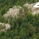 Aerial Shot Beautiful Landscape With Forest And Cliff - VideoHive Item for Sale