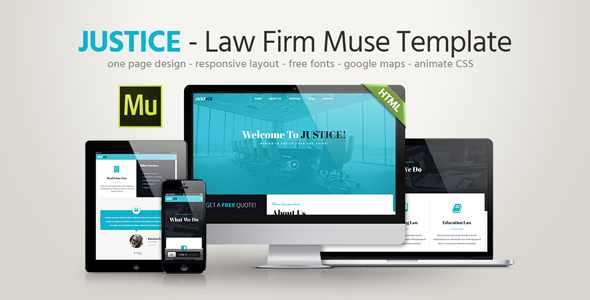 Justice – Law Firm Responsive Muse Template