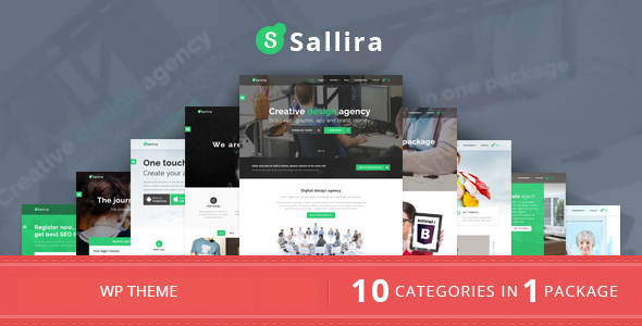 Sallira – Multipurpose Startup Business WordPress Theme