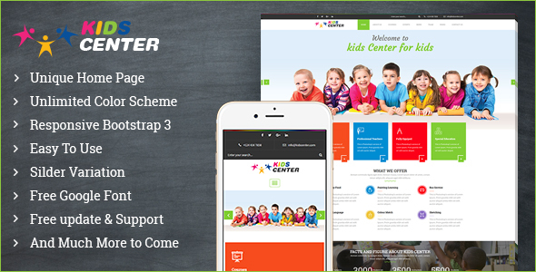 Kidcenter – Education Bootstrap Template