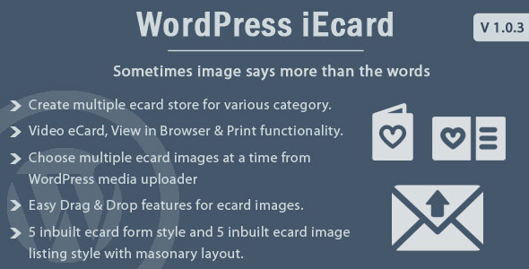 WP ieCard - WordPress eCards Plugin - CodeCanyon Item for Sale