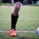 Soccer Player Playing With Ball On Field - VideoHive Item for Sale