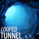 Blue Wireframe Endless Tunnel - VideoHive Item for Sale
