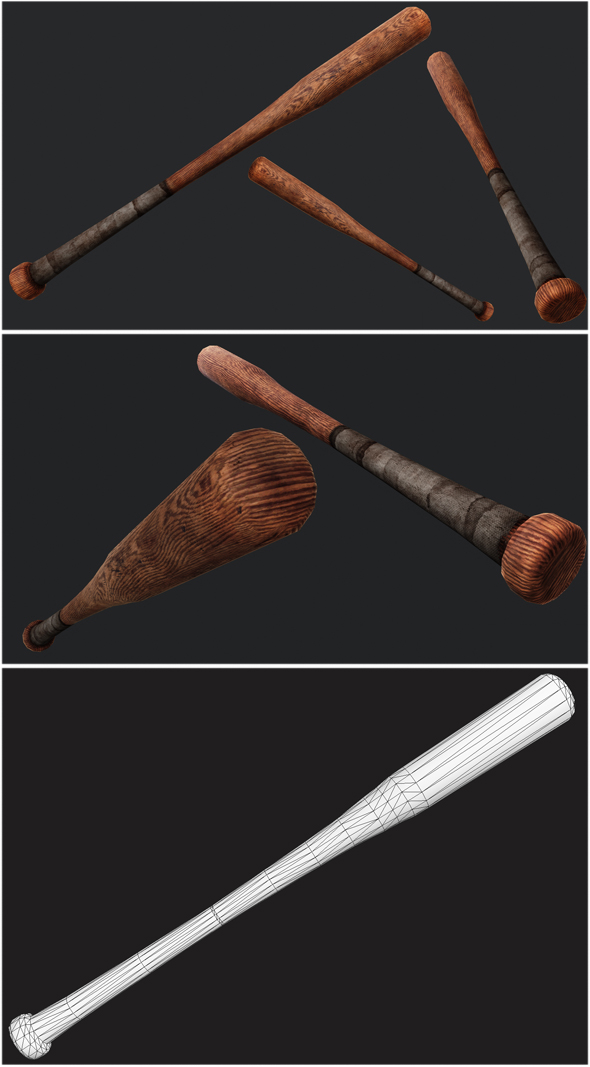 Baseball Bat Weapon 01 - 3DOcean Item for Sale