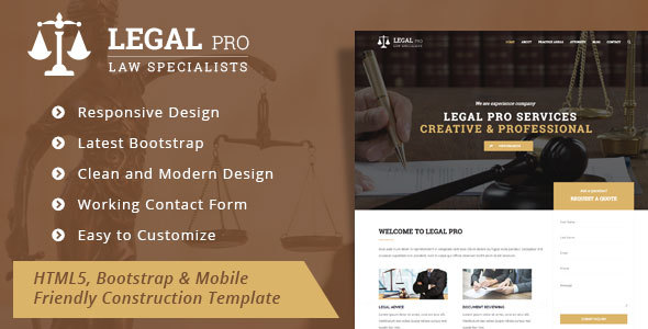 Legal Pro - Law/Legal Business Template - Business Corporate