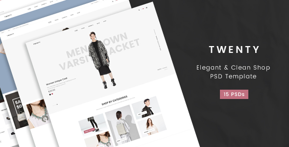 Twenty- Elegant & Clean Shop PSD Template - Fashion Retail
