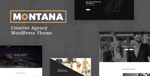 Montana – Creative OnePage  Portfolio, Agency, ShowCase  WordPress Theme