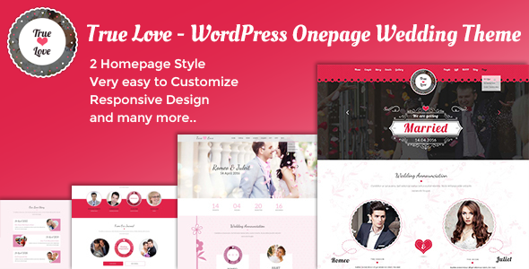 True Love - Onepage WordPress Wedding Theme - Wedding WordPress
