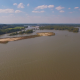 Flying Above Large River in the Country - VideoHive Item for Sale