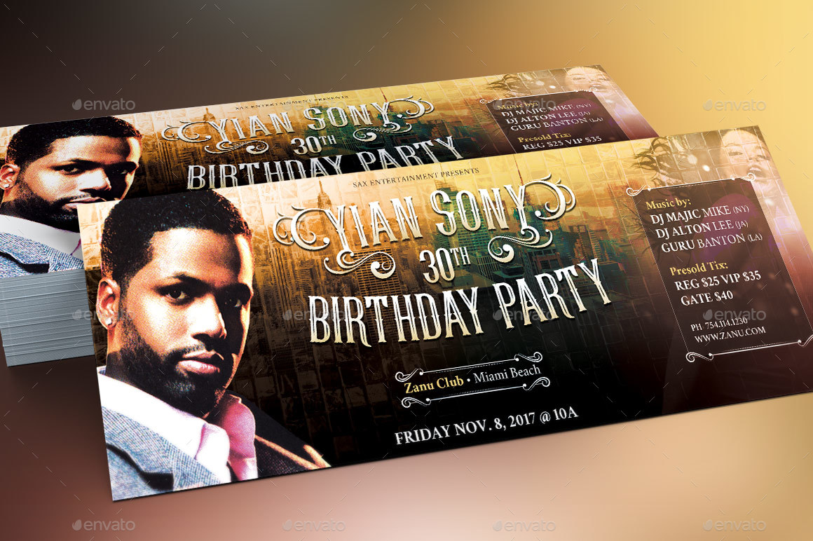 Hipster Birthday Party Flyer Template by Godserv2 | GraphicRiver