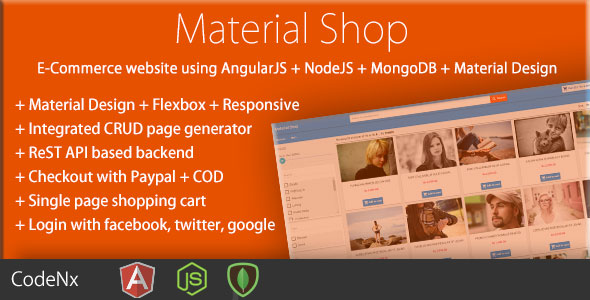 Material Shop – Material Designed Shopping Cart Using AngularJS