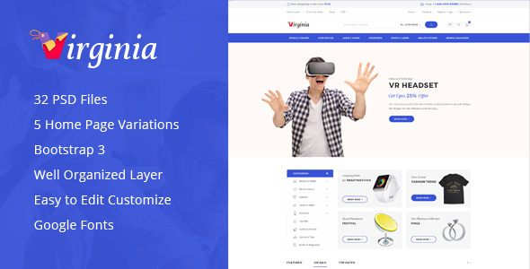 Virginia - Electronic WooCommerce WordPress Theme