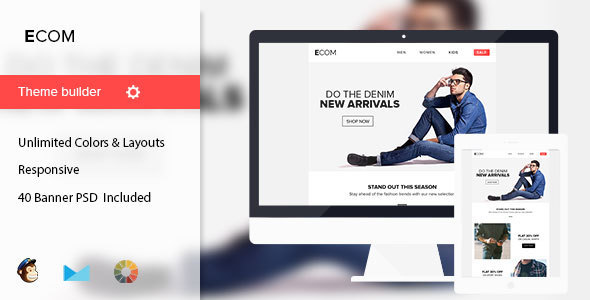 Ecom - Minimal Email Template + 40 Banners - Email Templates Marketing