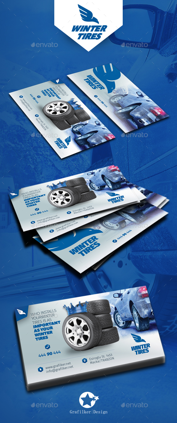 Automobile tire business card templates by grafilker graphicriver automobile tire business card templates corporate business cards colourmoves