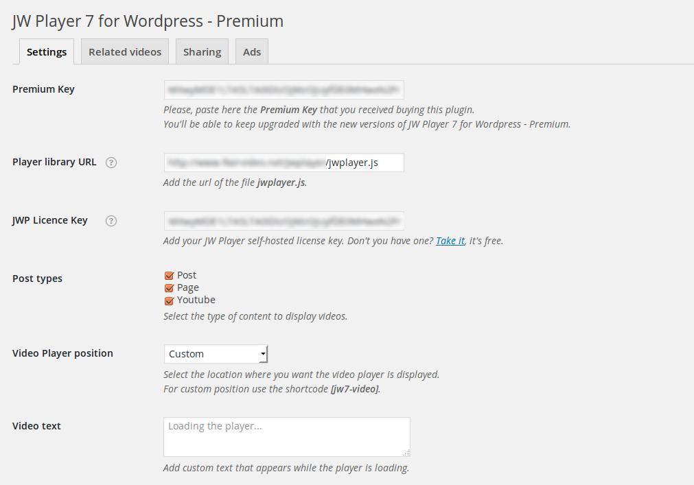 JW Player for Wordpress - Premium