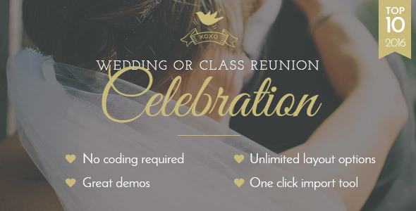 Celebration - Wedding & Class Reunion Theme - Wedding WordPress