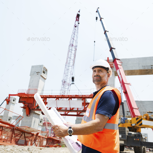 Blueprint Architect Career Structure Construction Concept - Stock Photo - Images