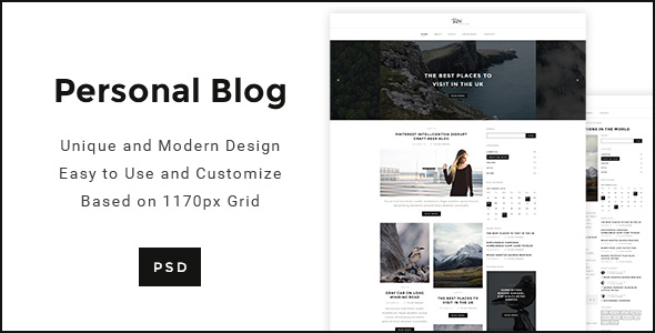 personal template modern minimal psd preview themeforest screenshots templates