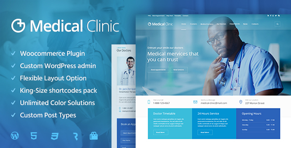 Medical Clinic - Health & Doctor Medical WordPress Theme - Health & Beauty Retail